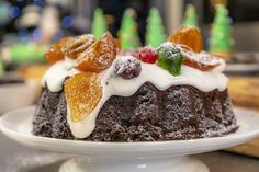 Christmas Cake | James Martin Chef New Recipes, Cake Recipes, Morning Food, Saturday Morning, James Martin, Sunday Roast, Mixed Fruit, Cake Tins, Brown Sugar