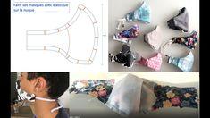 Fabriquer un masque SANS ÉLASTIQUE DERRIÈRE LES OREILLES avec filtre derrière les coutures ! - YouTube Sewing Tutorials, Sewing Projects, Afghan Crochet Patterns, Youtube, Face, Kids, Filter, Board, Ear
