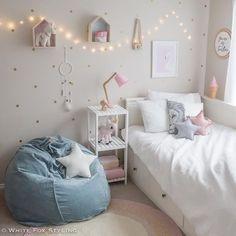 Little girls room inspo. Loving the velvet beanbag from – Home Dekor Living Room Bedroom, Girls Bedroom, Bedroom Decor, Bedroom Ideas, Fantasy Bedroom, Room Stickers, Bohemian Style Bedrooms, Kids Decor, Home Decor