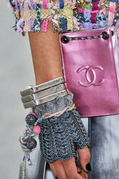 ao with <3 / details by Chanel spring 2014, crochet wrist warmers