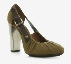 Dries Van Noten Olive And Brown Pump