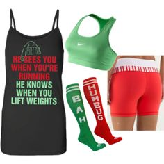 """""""WOD Wear #043"""" by sarcy321 on Polyvore #crossfit, #crossfitchristmasoutfit, #crossfitclothing"""