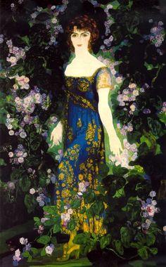 Hermenegildo Anglada Camarasa (Barcelona 11 de septiembre de 1871 ~ Pollensa 7 de julio de 1959) Retrato de Leticia Bosch, duquesa de Dúrcal. 1922 Foroxerbar, J. Luis
