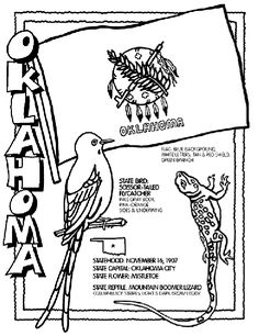 #Oklahoma State Symbol Coloring Page by Crayola. Print or color online.