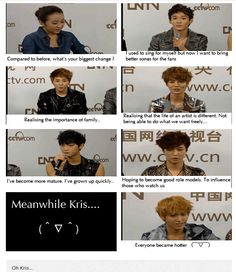 "Hahahahaha ""everyone became hotter"" I have to agree with ya on that one, Kris!!!"