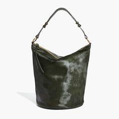 The Lisbon O Ring Bucket Bag In Calf Hair