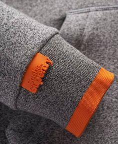 Superdry Scuba Zip Hoodie Grey - Swetlana Home Zip Hoodie, Grey Hoodie, Tee Design, Label Design, Fashion Details, Fashion Design, Clothing Labels, Sport Wear, Apparel Design