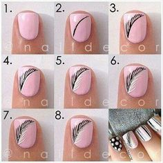 nail art designs step by step at home for beginners - Google Search