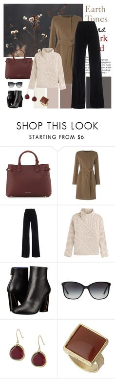 """Earth Tones and Dark Red"" by dezaval ❤ liked on Polyvore featuring Burberry, Lauren Ralph Lauren, AG Adriano Goldschmied, Polo Ralph Lauren, Proenza Schouler, Bulgari, Karen Kane and Dorothy Perkins"