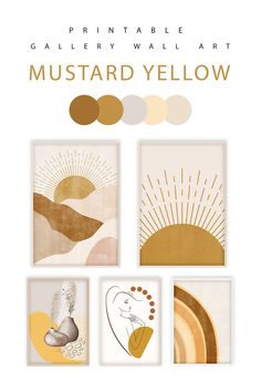 Create a wall gallery featuring mustard yellow modern art. This 5 piece set would be a great addition for a modern, boho inspired home. Print as many copies as you like and / or use as gifts, simply print and frame. This is an extremely quick and easy way to redesign your decor especially on a budget. SPECIAL OFFER for Pinterest buyers: 50% discount use coupon PINTEREST during checkout #mustardyellow #wallart #gallerywall #printableart #bohodecor