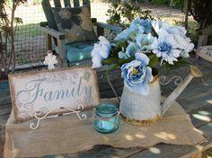 Table Centerpiece Family Centerpiece by CreativeSpacesbyGina