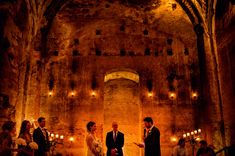 It doesn't get too much better than this.  A wedding day set in the romantic candlelit ruins of an ancient building, an exotic faraway destination, the beautiful back story of a long distance courtship, and two of the world's finest photographers to document it all.