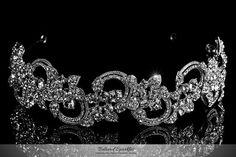 Art Deco Swarovski Crystal Cluster Headband, Bridal Headband, Vintage Floral Flower Rhineston Silver Headband, Wedding Headband,Bridal Tiara