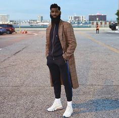 """allenonyia: """"Don't try to be the """"next"""". Instead, try to be the difference, the """"new"""". Street Chic, Street Style, Don T Try, Awesome Beards, Air Max 270, Winter Coat, Dapper, Bomber Jacket, Handsome"""