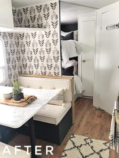 Camper remodel ideas house tours 63 Ideas for 2019 Rv Living, Tiny Living, Travel Trailer Remodel, Airstream Remodel, Rv Interior, Interior Design, Vintage Camper Interior, Interior Ideas, Camper Renovation
