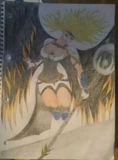 Nearly finished pic of angel magic warrior
