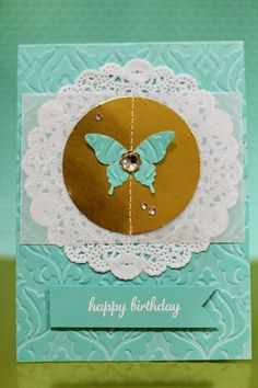 cards by carli: elegent butterfly, stampin up, gold foil sheets, http://carliambrose.blogspot.com.au