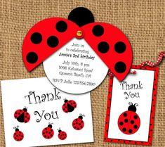 You can take advantage of our beauty ideas. Ladybug Invitations, Invitation Birthday, Ladybug Party, Ladybug Cupcakes, Kitty Cupcakes, Snowman Cupcakes, Giant Cupcakes, Party Favor Tags, Favor Bags