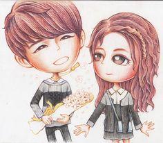 [FAN ART] [Pls RT] @infinitefanart Woohyun & Seulbi by ratnayeol/littlelumut