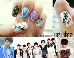 """Infinite inspired nails from """"Nothing's Over"""" music video."""