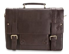 Brunhide Men's Genuine Leather Briefcase Messenger Bag