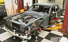 1966 Mustang with Coyote engine swap