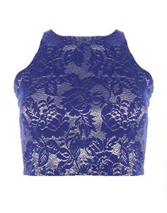 GLAMOROUS | Knitted Top in Blue -