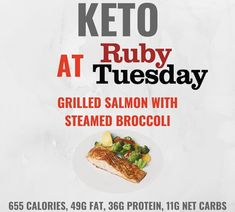 Keto at Ruby Tuesday Healthy Fast Food Choices, Keto Fast Food Options, Healthy Living Recipes, Fast Healthy Meals, Healthy Low Carb Recipes, Keto Recipes, Eating Healthy, Healthy Foods, Keto Friendly Restaurants