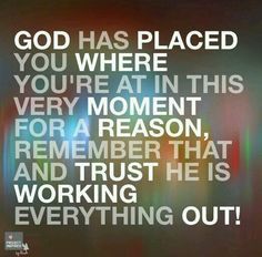 God will work everything out! :)                                                                                                                                                      More