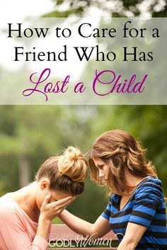 This advice on how to help a friend who has lost a child is so good! I hope I never need it, but I'm definitely saving it just in case!