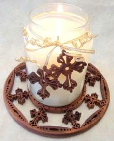48-SLD327P - Cross Fretwork Candle Tray and Charms Scrollsaw Pattern
