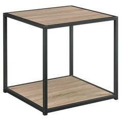 Give your living space a touch of industrial modern design with this sleek accent table from Altra Furniture. Perfect next to your favorite chair or at each end of your sofa, this stylish end table elevates any decor in an instant. The end table feature a warm Espresso wood grain finish on the top and lower shelf, offset by a metal frame in Altra's Gunmetal Gray finish. The end table's sleek, slim profile makes it perfect for both modern and transitional interiors. It also works grea...