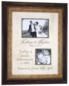 I love this picture frame!  it's such a cute idea for a gift for my dad!