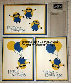 Minion Punch art Stampin' Up!