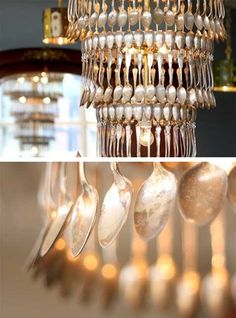 Look at the elegance of these spoons! I'd take this any day over a crystal chandelier.