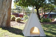 Scratch-free Pet teepee dog teepee with door entrance