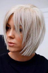 99 Modern Short Hairstyles Ideas For Women In 2019 – Hairstyles Theme Modern Short Hairstyles, Face Shape Hairstyles, Bob Hairstyles For Fine Hair, Hairstyles Pictures, Hairstyles Haircuts, Layered Hairstyles, Evening Hairstyles, Pixie Haircuts, Short Straight Hair