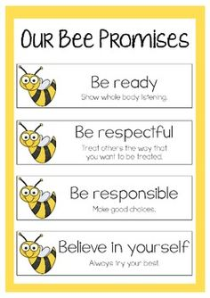 Our Bee Promises - Freebie                                                                                                                                                                                 More