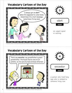 Scholastic Printables Daily Cartoon Vocabulary