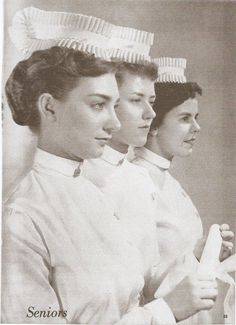 Nurses at Philadelphia General Hospital, 1958 History Of Nursing, Medical History, Psych Nurse, Nurse Humor, Vintage Nurse, Vintage Medical, Vintage Pictures, Old Pictures, Funny Pictures
