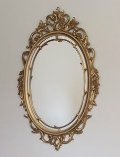 Vintage 1967 Syroco Ornate Gold Gilded Regency Style Mirror | eBay