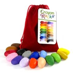 Crayon Rocks are simply the best coloring tool for young children.  The unique ergonomic shape allows small fingers to color in large, wide strokes.  The Crayon Rocks strengthen the tripod grip muscles, preparing fingers and hands for pen and pencil use.  Whether used for children just starting to color and write or for older children with fine motor skill difficulties, Crayon Rocks will be an instant hit with your kids.Great for children with Autism, Cerebral Palsy, and other disabilities.