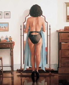 Jack Vettriano (1951 - ) - The Blue Gown II
