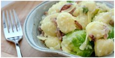 Gnocchi with Brussel Sprouts and Bacon / Trader Joe's Recipes