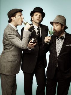 The Wolf Pack (Ed Helms, Bradley Cooper, and Zack Galifianakis) / Hannover men :) Hannover 3 on the cinemas in this summer !