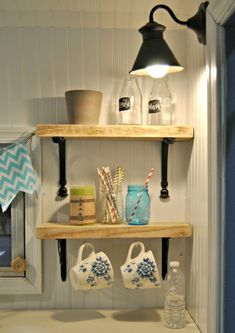 Open kitchen shelving for my dream camper