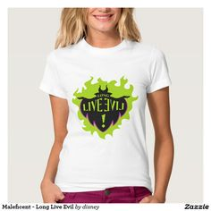 Maleficent - Long Live Evil T-Shirt. Disney Descendants Shirt available on many other styles in all sizes for men women and children.
