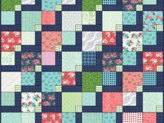 "Original Pattern: Zen Garden by Color Girl, variation made with Moda's ""Gooseberry"" and ""Canyon"" Throw size quilt can be made with Layer Cake"