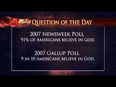 Faith in History, Question of the Day: How Many People in the US believe in God? Watch this short clip to find out.  To find local listings in your area or to learn more about The TCT Network visit www.tct.tv.  For EXCLUSIVE content and info about upcoming specials, Network guests, behind-the-scenes news, and featured programs follow TCT on Facebook, Twitter, Pinterest, GodTube and YouTube channels!