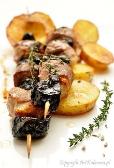 Skewers of Duck and Dried Plums